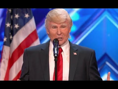 President Trump Channels His Inner Bruno Mars! It's Gonna Be HUGEEE  | Week 1 | AGT 2017