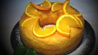 Receta Bizcocho húmedo de naranja - Recetas de cocina, paso a paso, tutorial