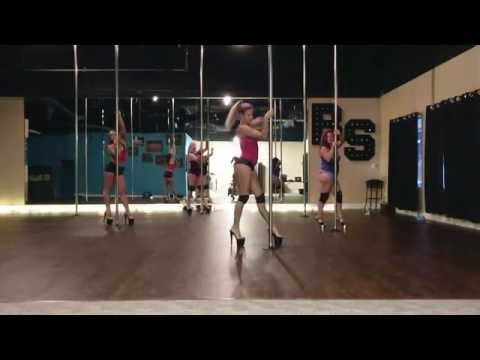 Tainted Love - Marilyn Manson Beginner Pole And Floor Dance Routine 8-23-16