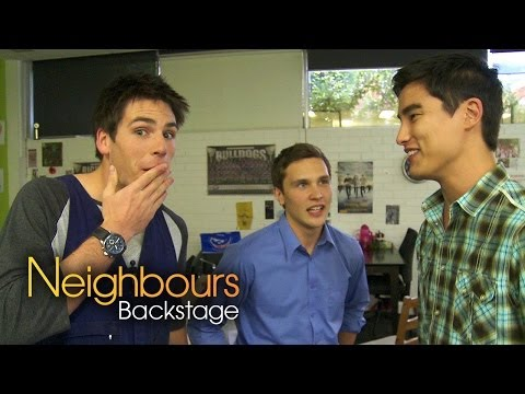Neighbours Backstage: James Mason Chris Pappas Part 2