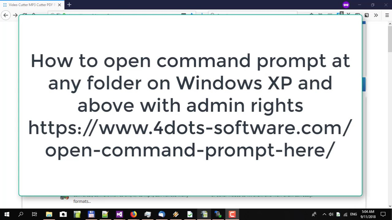Open Command Prompt Here - Launch Command Prompt from any folder