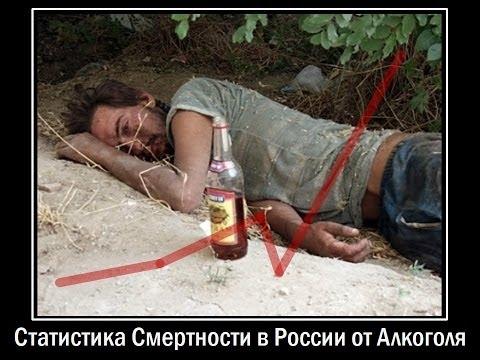 Статистика Смертности в России от Алкоголя
