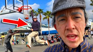 Download GRANDPA SLAM DUNKS ON TRASH TALKING HOOPERS! *ankles broken* Mp3 and Videos