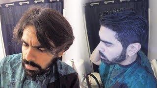 CUT YOUR OWN HAIR! Meḋium Self-Haircut & Beard Trim | Tip #26
