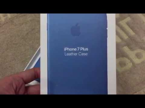 the latest 1a277 bed9c iPhone 7 Plus Sea Blue Leather Case - YouTube