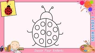 Comment dessiner un emoji kawaii facile pour enfants - Dessin coccinelle facile ...