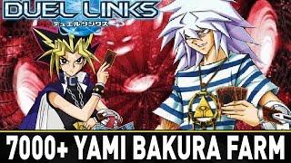 7000 points farming bakura more banishing   yugioh duel links mobile w shadypenguinn