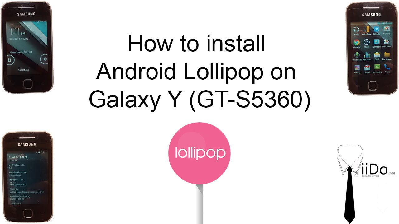 Easy Steps: How To Install Android Lollipop On Samsung Galaxy Y (gts5360)   Youtube