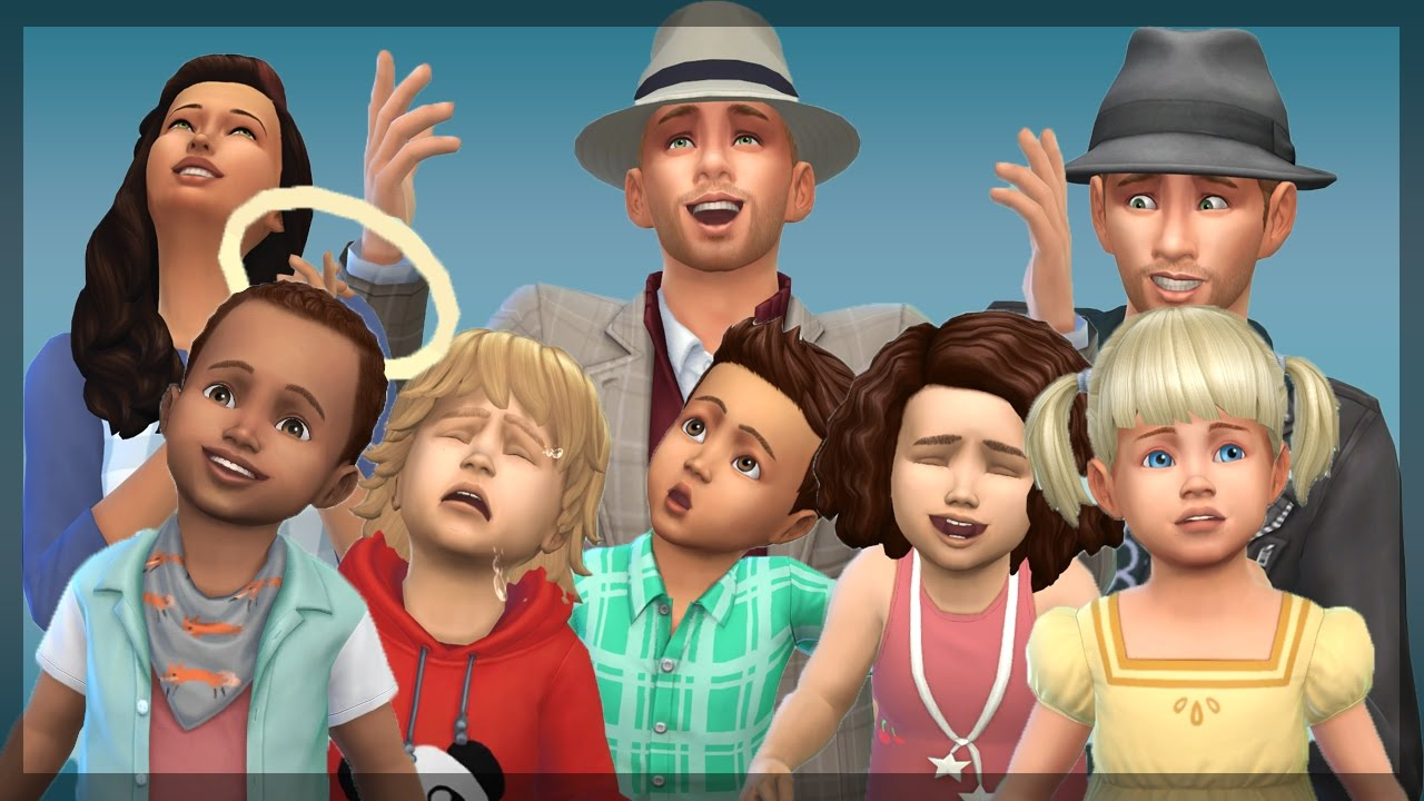 The Sims 4: The Cute Toddler Montage - YouTube