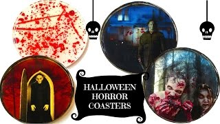 DIY Horror Coasters   The Walking Dead, Michael Myers Halloween, Nosferatu ~ Another Coaster Friday