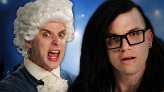 Repeat youtube video Mozart vs Skrillex. Epic Rap Battles of History Season 2.