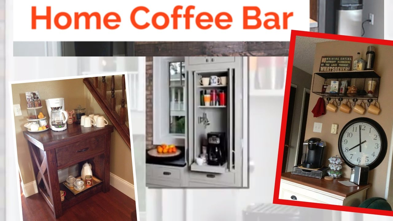 Home Coffee Bar Design Ideas: 35 Exceptional DIY Coffee Bar Ideas For Your Cozy Home