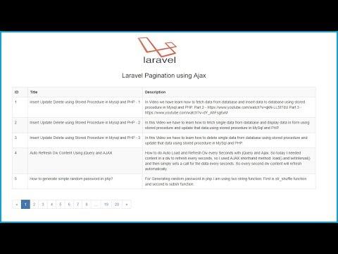Pagination in Laravel using Ajax