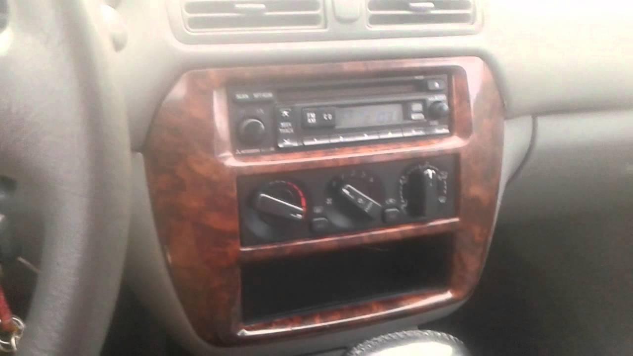 1st Pt 02 Mitsubishi Galant Stereo Make Over Youtube 2000 Diamante Radio Wiring