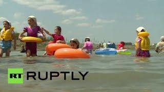 فيديو - افتتاح أول شاطئ خاص للسيدات في الشيشان
