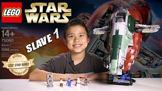 LEGO SLAVE 1 - LEGO Star Wars UCS Set 75060 Time-lapse, Stop Motion, Unboxing & Review
