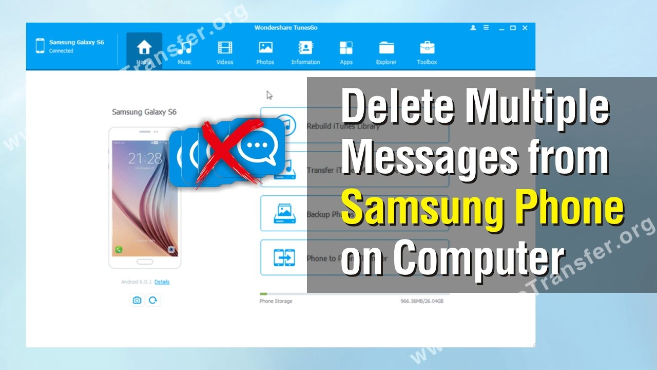 How to Delete Multiple Messages from Samsung Phone on Computer