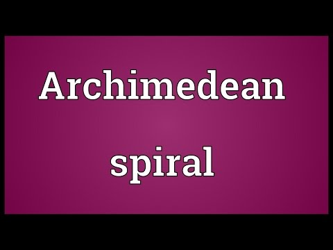 Archimedean spiral Meaning