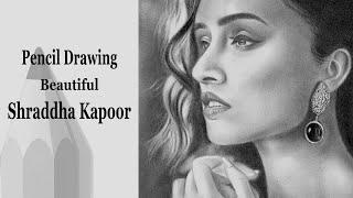Drawing process of Shraddha Kapoor