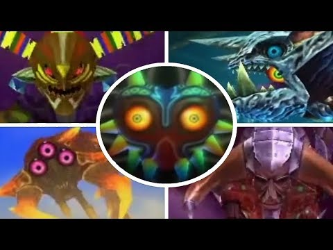 The Legend of Zelda: Majora's Mask 3D - All Bosses (3DS)
