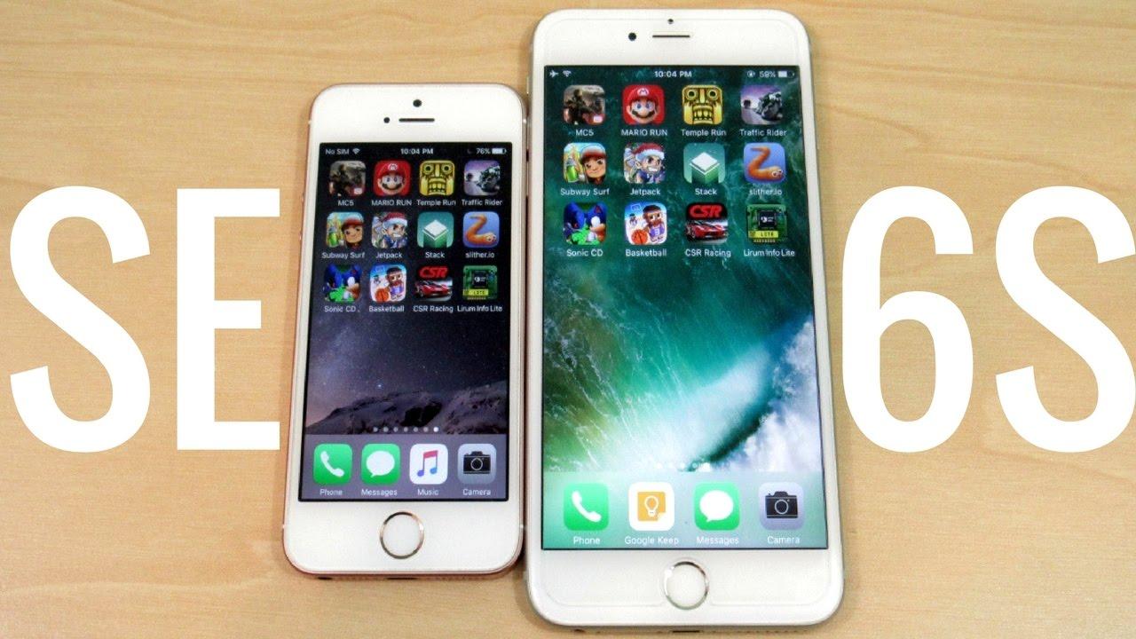 iphone 6 vs 6 plus vs se