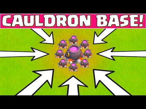 Clash of Clans HALLOWEEN CAULDRON BASE LAYOUT ★ COC HALLOWEEN UPDATE EVENT ★