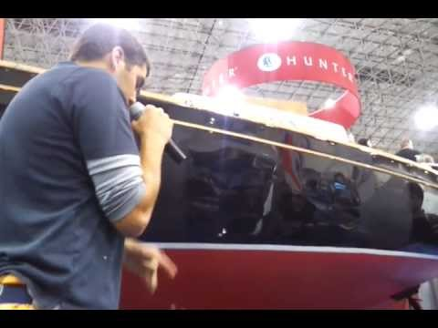 Buffing Demo at Chicago Sail '12. First Mate Yacht Care at the Second Wind Sailing booth