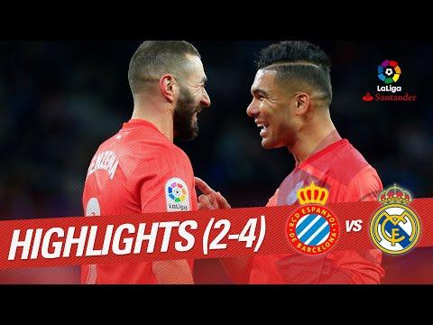 Highlights RCD Espanyol vs Real Madrid (2-4)