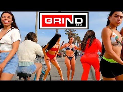 Santa Monica Beach Pier to Venice Beach Boardwalk Virtual Bike Tour Grind Beautiful People Saturday.