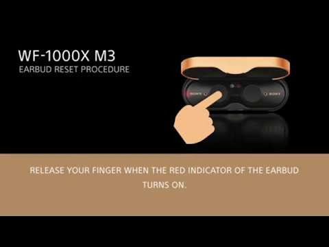 Sony |  How To Reset WF-1000XM3 Earbuds When One Side Isn't Connecting