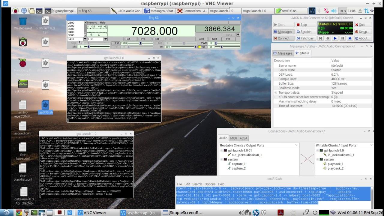 HAM RADIO - Remote Rig Audio over IP - using a basic RTP Gstreamer Audio  Pipeline  sh script