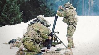 Army 173rd Airborne Brigade – Mortar Mission At Grafenwöhr Training Area, Germany.