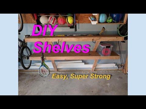 DIY Garage Shelves (save space!)