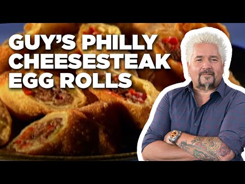 Guy's Philly Cheesesteak Egg Rolls  Food Network