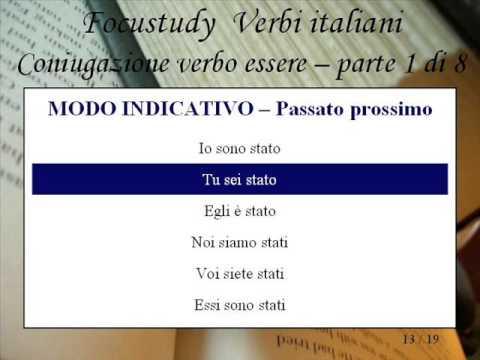 Coniugazione del verbo essere - 1 di 8
