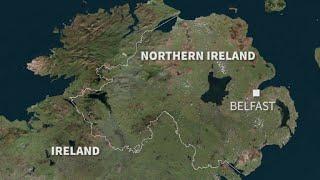 The border between N. Ireland and Ireland