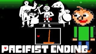 Baldi Battle in Undertale Pacifist Ending