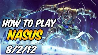 HOW TO PLAY NASUS | Build & Runes | Diamond Commentary | Galactic Nasus | League of Legends