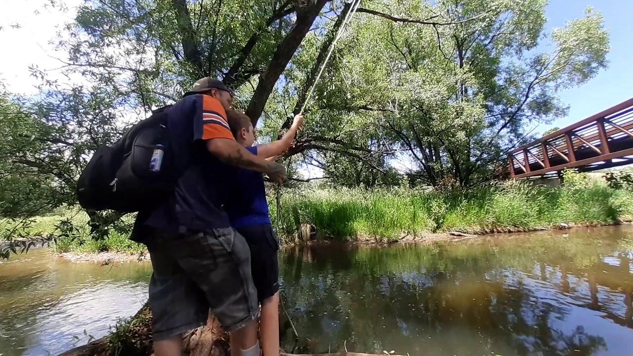 Fun rope swing!!!!!!!! - YouTube