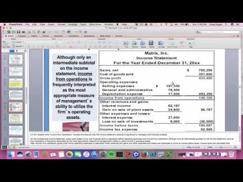 Income statement - Overview