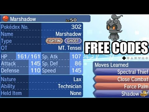 Obtaining Marshadow and Marshadium Z - FREE CODES INCLUDED BE FAST!