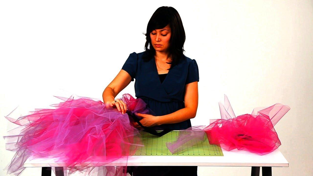 90b2c58c0733 How to Tie the Tulle for a No-Sew Tutu | No-Sew Crafts - YouTube
