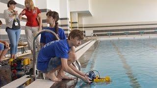 Подводные роботы на всероссийской робототехнической олимпиаде 2016 в Иннополисе (Казани)