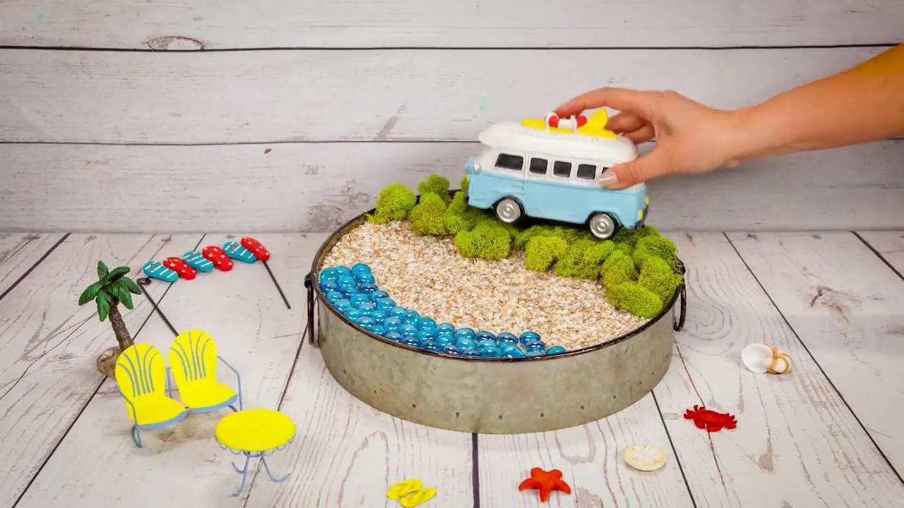 How To Make A Beach Fairy Garden   YouTube