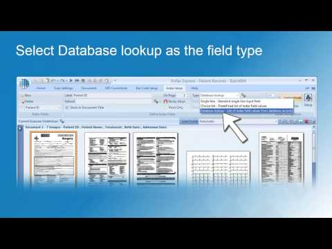 Kofax Express Indexing using Database Lookup