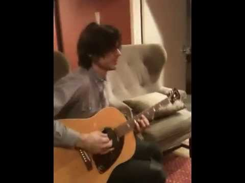 Practicing with Brian Bell of Weezer in their dressing room