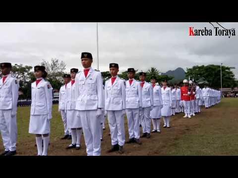 Detik-Detik Pemb. Teks  Proklamasi ke 72, 2017 di Lap. Bakti Rantepao Toraja Utara