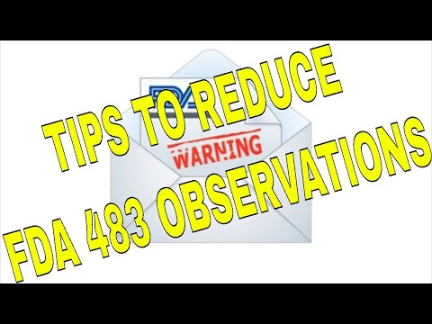 Tips To Reduce FDA 483 Observations
