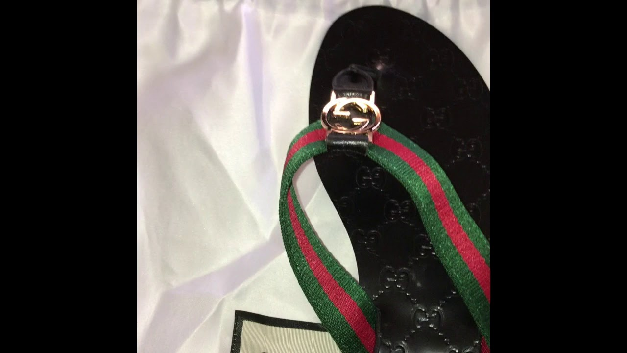 DHGATE GUCCI SANDALS - YouTube