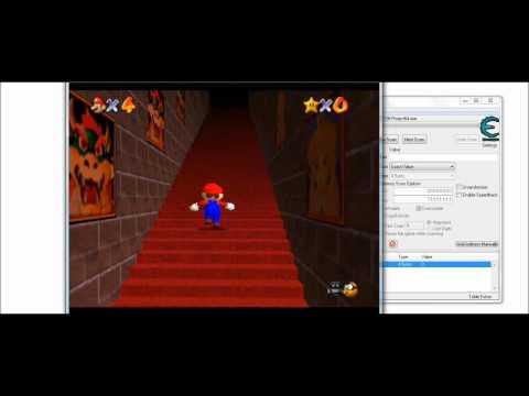Super Mario 64 Stars Hack With Cheat Engine